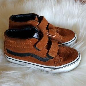Vans quarter sk8-mid velcro brown suede shoes